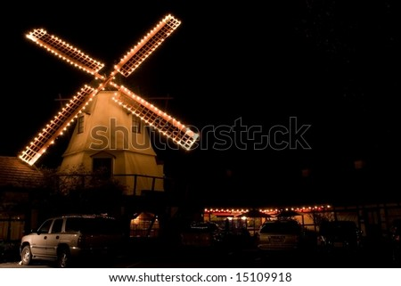 Solvang is a city in Santa Barbara County, California, United States. The city of Solvang is one of the communities that make up the Santa Ynez Valley. - stock photo