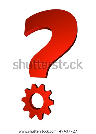 Solving Question; great for question, solution and business concepts. - stock photo