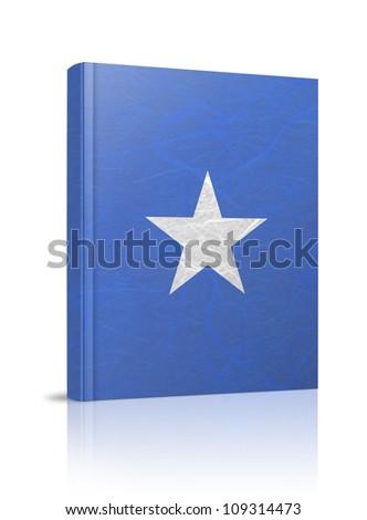 Somalia flag book. Mulberry paper on white background. - stock photo