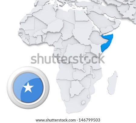 Somalia with national flag - stock photo