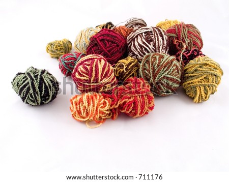 Some balls of yarn - stock photo
