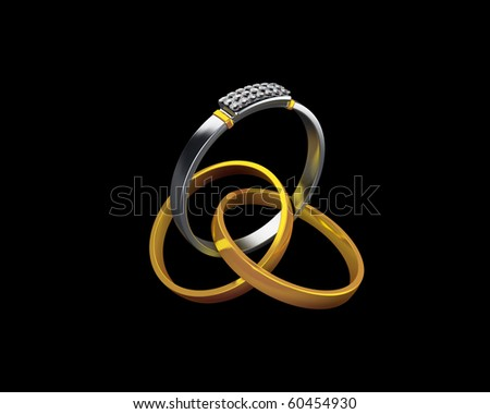 some beautiful rings - stock photo