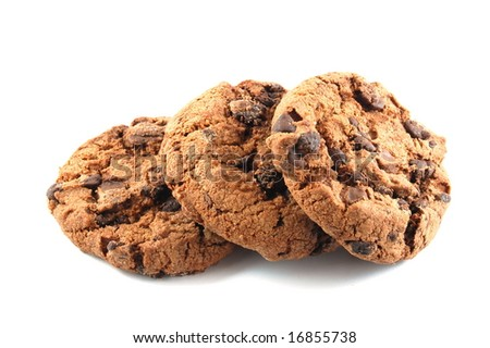 Some cookies isolated on a white background. - stock photo