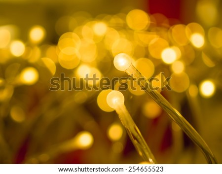 some led lamps golden light science and technology background - stock photo