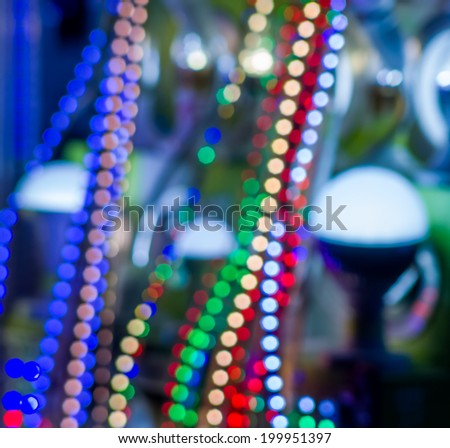 some led science and technology background - stock photo