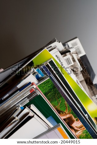 Some magazines - stock photo
