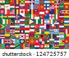 some of world flags icons background - stock photo