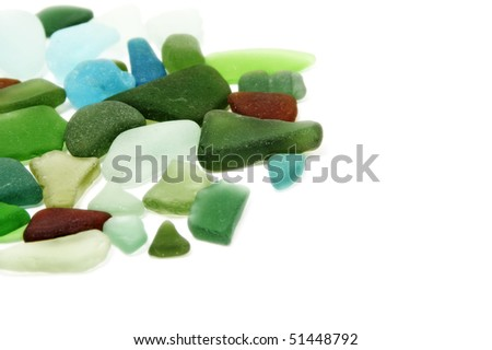 some pebbles isolated on a white background - stock photo