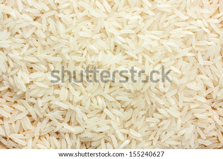 some row thai rice on wood - stock photo