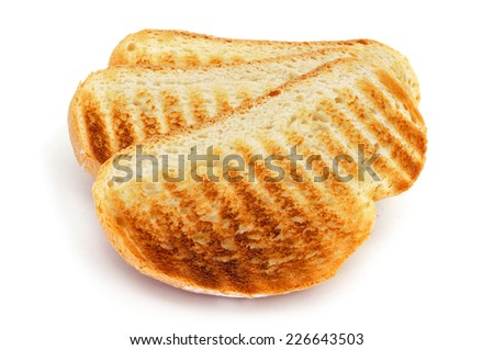 some toasts on a white background - stock photo