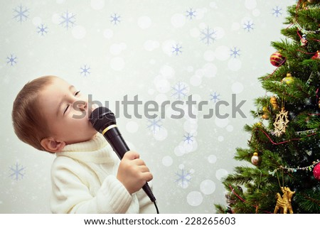 Song for Christmas trees - stock photo