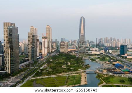 SONGDO,SOUTH KOREA - July 16, 2014: Songdo Central Park in Songdo International Business District.Incheon,Korea - stock photo