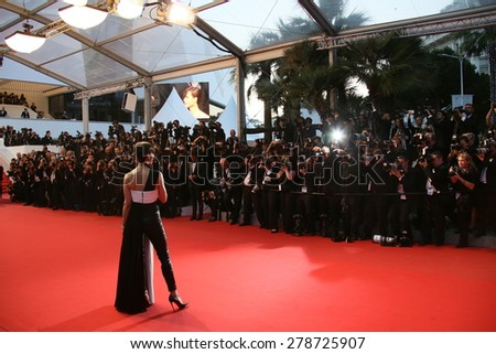 Sophie Marceau attends the premiere of 'The Sea Of Trees' during the 68th annual Cannes Film Festival on May 16, 2015 in Cannes, France. - stock photo