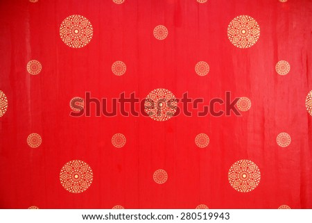 Sophisticate Decorated Ceiling of Buddhist Temple - stock photo