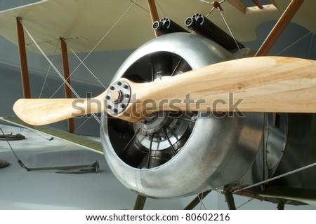 Sopwith Camel World War One Biplane Machine Gun War Plane - stock photo
