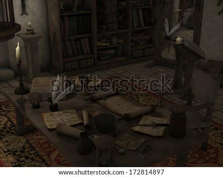 Sorcery Room - stock photo