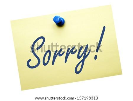 Sorry ! - stock photo