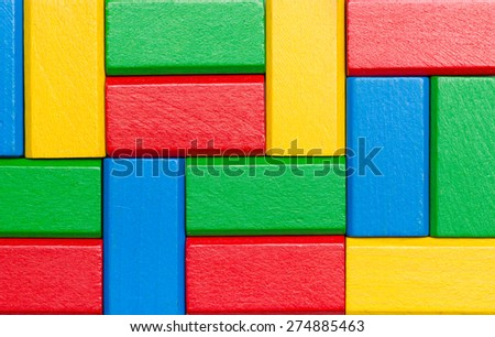 Sorted Toy Block Background - stock photo