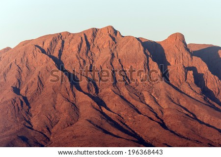 Sossusvlei in the Namib Desert, Namibia, Africa - stock photo