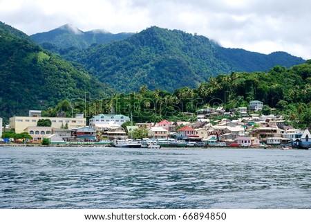 Soufriere, Saint Lucia - stock photo