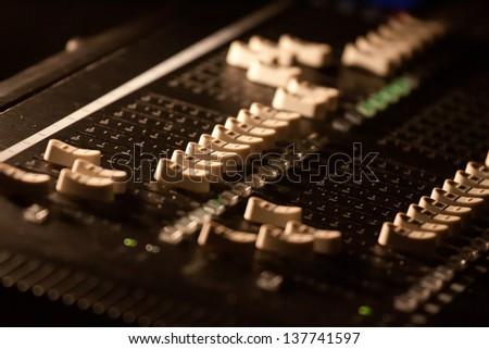 Sound Control System - stock photo