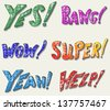Sound effects. Doodle style. Raster version - stock photo