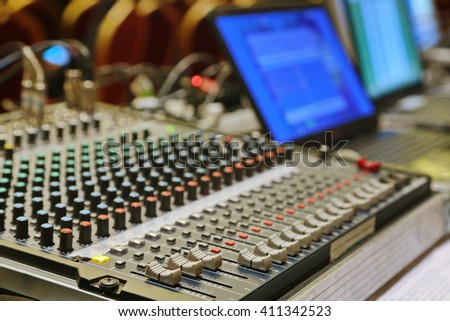 sound equipment  - stock photo