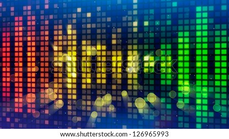 sound level meter equalizer background - stock photo
