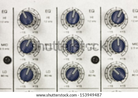 Sound mixer close up - stock photo