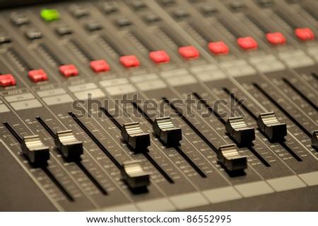 Sound mixer control - stock photo
