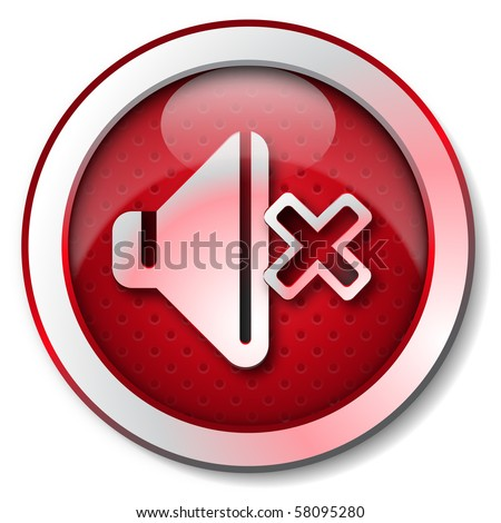 Sound OFF icon - stock photo