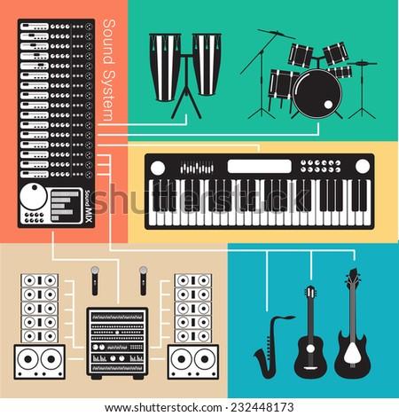 Sound System - stock photo