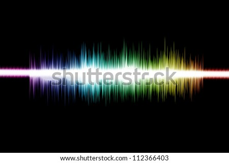 Sound-wave Digital Graphic as background Abstract - stock photo
