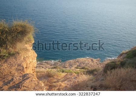 Sounion temple of poseidon, Greece - stock photo
