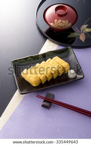 soup stock winding egg - stock photo