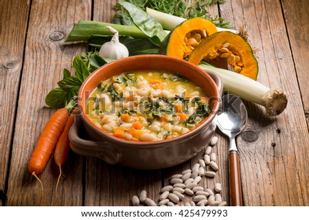 soup vegetable - stock photo