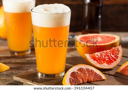 Sour Grapefruit Craft Beer Ready to Drink - stock photo