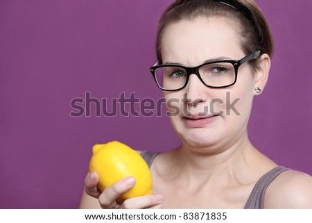 sour lemon - stock photo