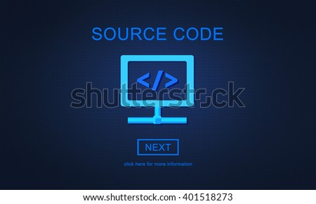 Source Code System PHP Open Source Concept - stock photo