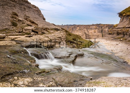 Source of Nervion river, North of Spain  - stock photo
