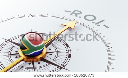 South Africa High Resolution ROI Concept - stock photo