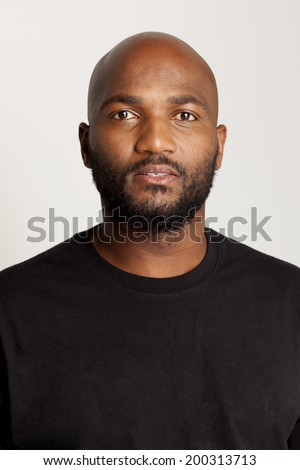 South African man looking straight at camera - stock photo
