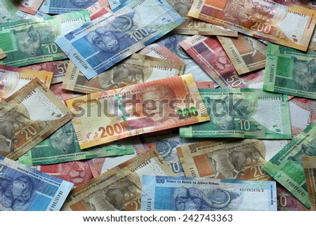 South African Rand - stock photo