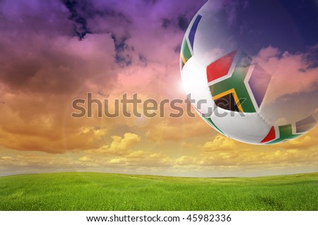South African 2010 world cup background - stock photo