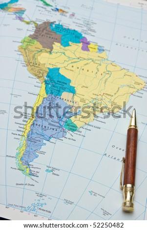 South America - stock photo