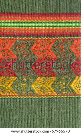 South America Indian textile pattern - stock photo