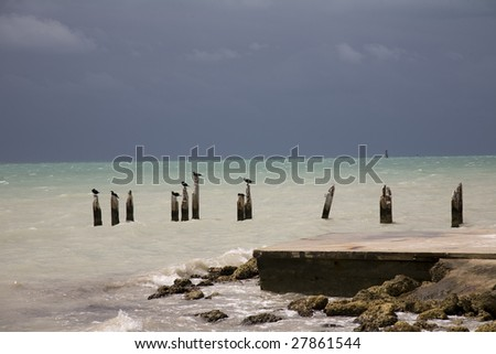 South Beach in Key West, Florida - stock photo
