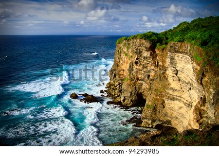South coastline in Bali, Indonesia - stock photo