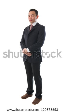 south east asian business man , chinese ethnicity full body - stock photo
