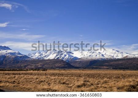 South Island Landscape Scenery, Canterbury, New Zealand - stock photo